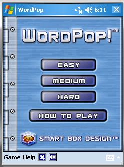WordPop First Screen