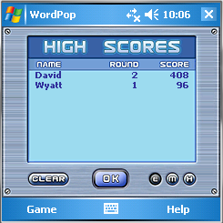 Word Pop Square High Scores