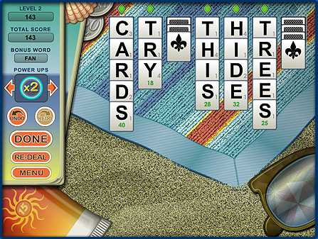 Word Monaco Solitaire PC Game